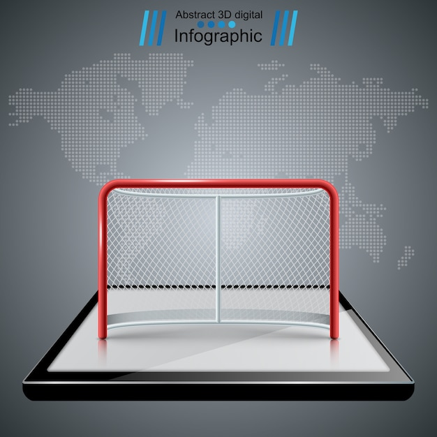 Hockey gates icons Premium Vector