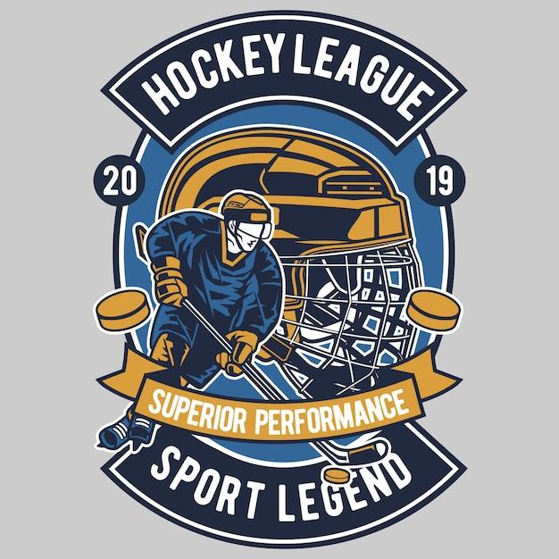 Hockey league Premium Vector