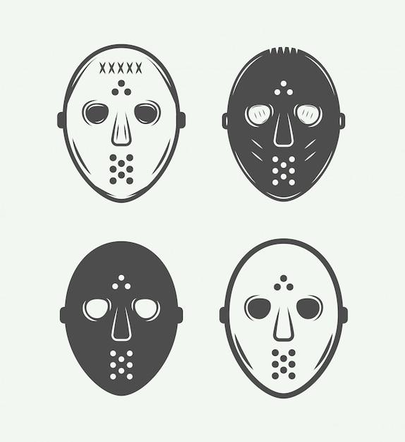 Hockey masks Premium Vector