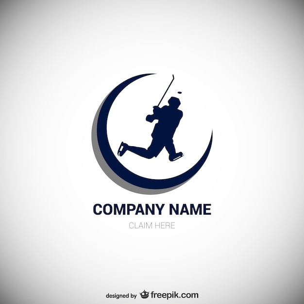 hockey player logo vector free download