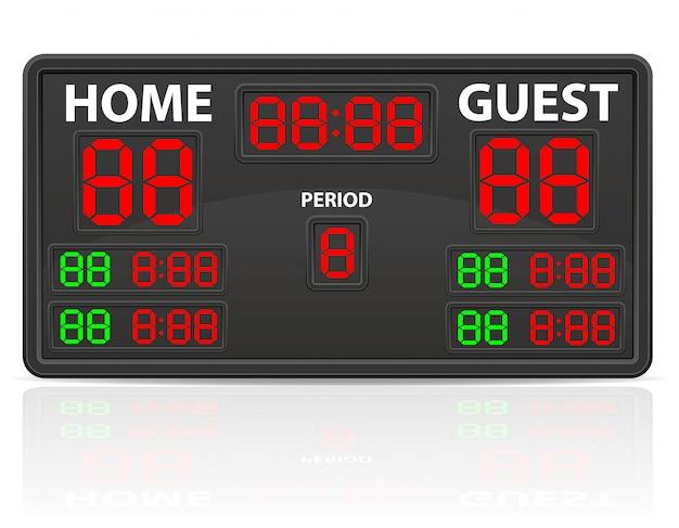 Hockey sports digital scoreboard vector illustration Premium Vector