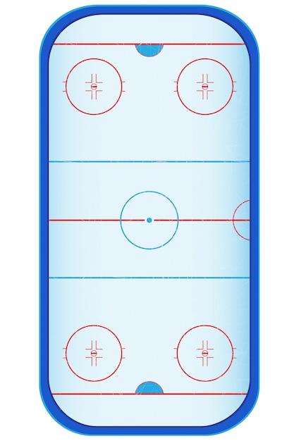 Hockey stadium. Premium Vector