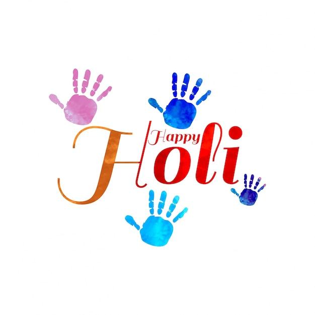 Holi background Free Vector