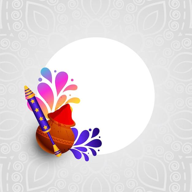 Праздничная открытка холи цветов и пичкари Бесплатные векторы