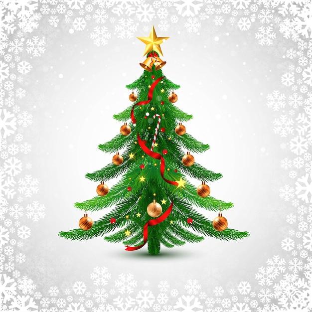 Праздник декоративной елки поздравительной открытки фон Бесплатные векторы