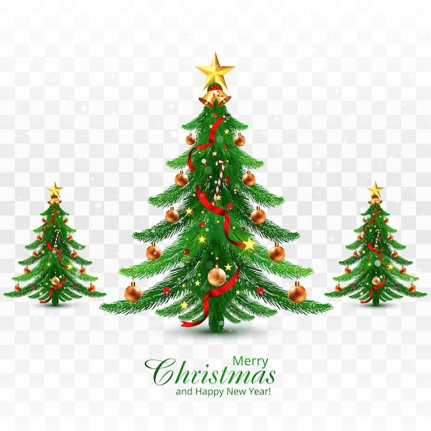 휴일 장식 크리스마스 트리 인사말 카드 배경 무료 벡터