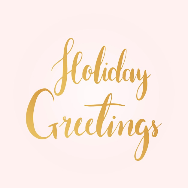 Holiday greetings typography style vector Free Vector