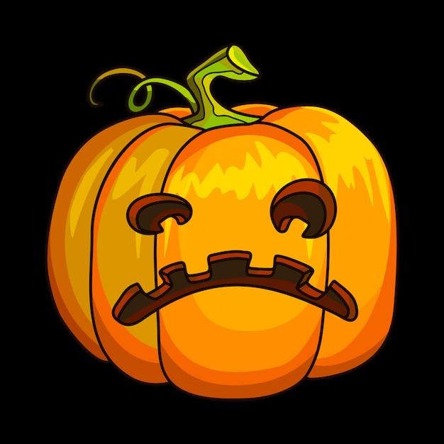 Holiday halloween pumpkin jack lantern. Premium Vector