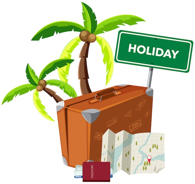 Holiday object on white background Premium Vector