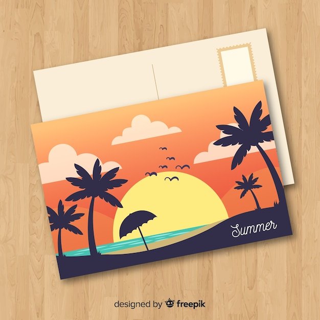 Holiday postcard Free Vector
