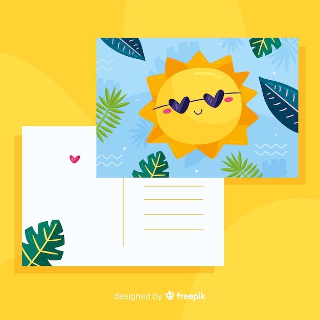 Holiday postcard Free Vector