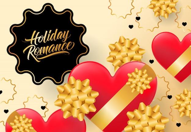 Lettere romantiche di vacanza Vettore gratuito