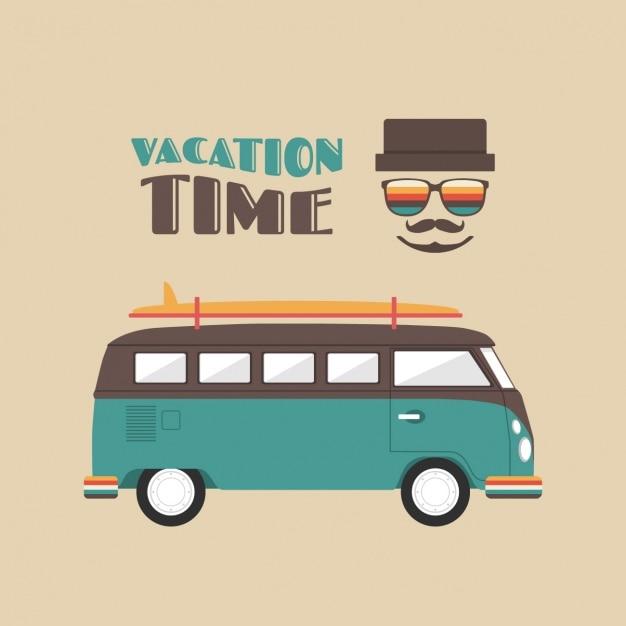 Progettazione vacanze di fondo Vettore gratuito