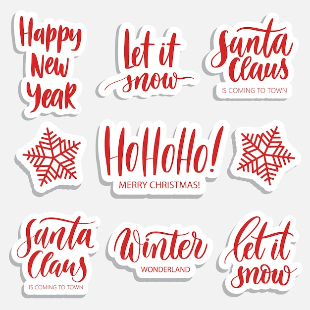 Holidays  patches and stickers Premium Vector