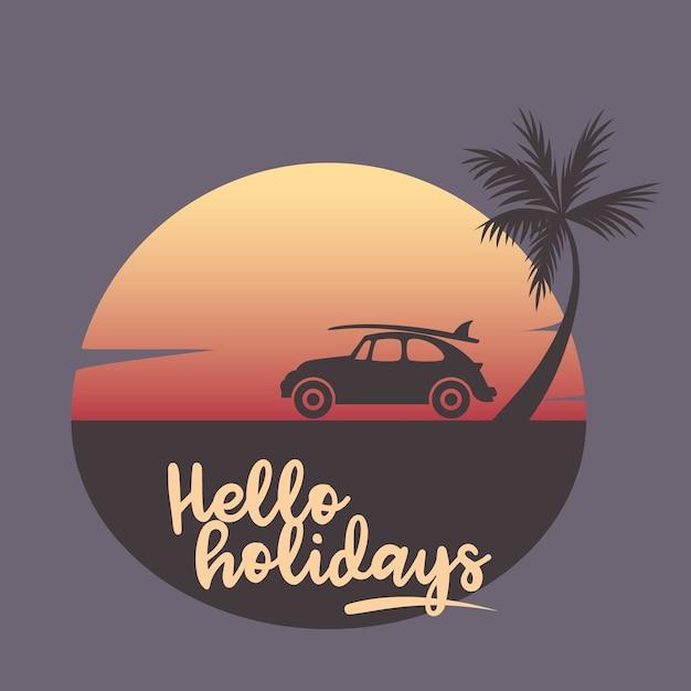 Holidays vector illustration Premium Vector