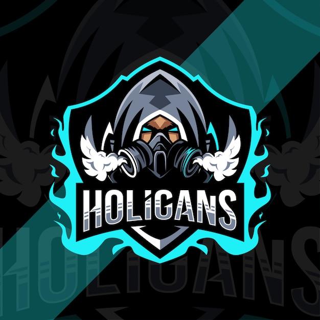 Holigans mascot logo esport design Premium Vector