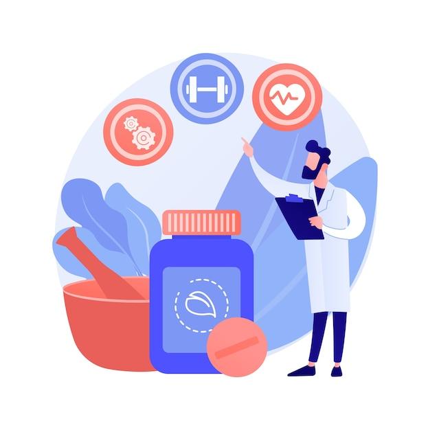 전체적 의학 추상적 인 개념 벡터 일러스트입니다. 대체 자연 의학, 전체 론적 정신 요법, 전신 치료, 건강 관행, 질병, 통합 의사 추상 은유. 무료 벡터