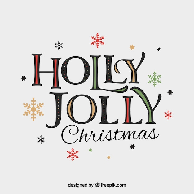 Holly Jolly Christmas.Holly Jolly Christmas Vector Free Download