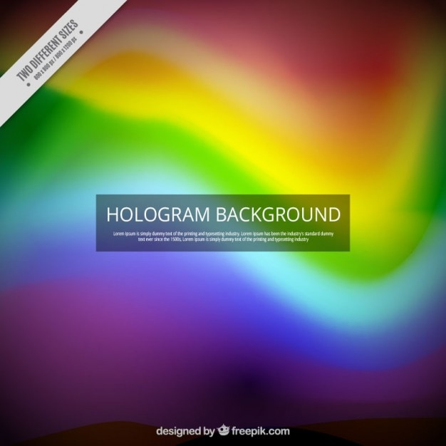 Hologram background in rainbow colors | Free Vector
