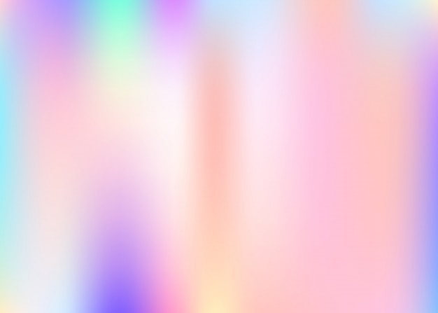 Holographic abstract background. Premium Vector