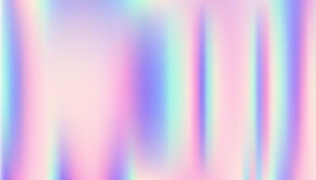 Holographic background. Premium Vector