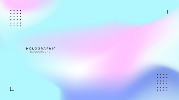 Holographic blue and pink background Premium Vector