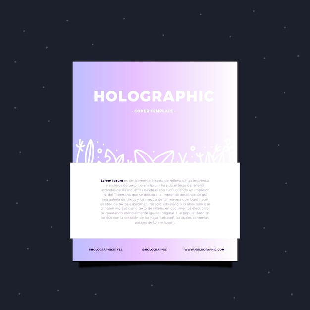 Holographic card template Free Vector