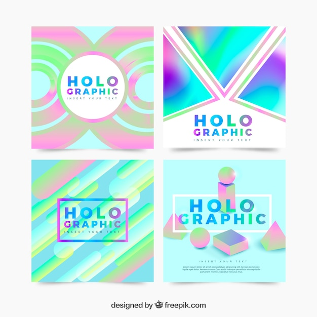 Holographic cards set