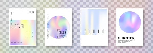 Holographic cover set. Premium Vector