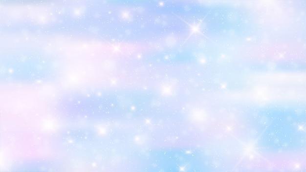 Holographic fairy background Premium Vector