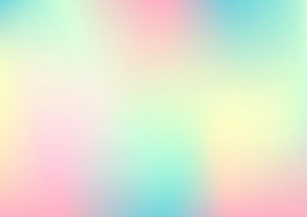 ホログラム箔、パステルグラデーションの抽象的な背景。 Premiumベクター