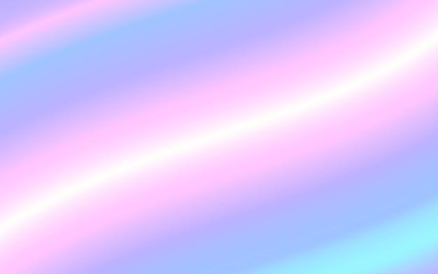 Holographic gradient mesh vector background. pastel rainbow texture Premium Vector