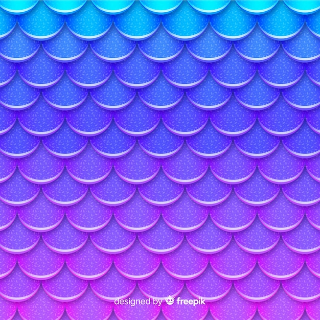 Holographic mermaid tail background Free Vector