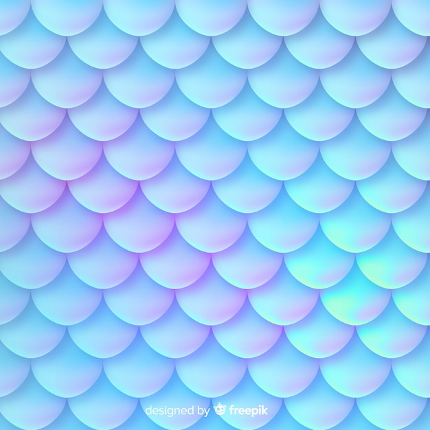 Holographic mermaid tail decorative background Free Vector