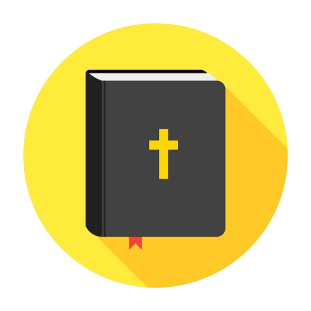 Holy bible book icon. flat Premium Vector