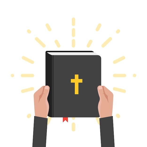 Holy book scripture illustration Premium Vector