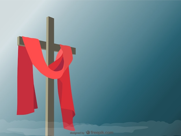 Holy Cross background Free Vector