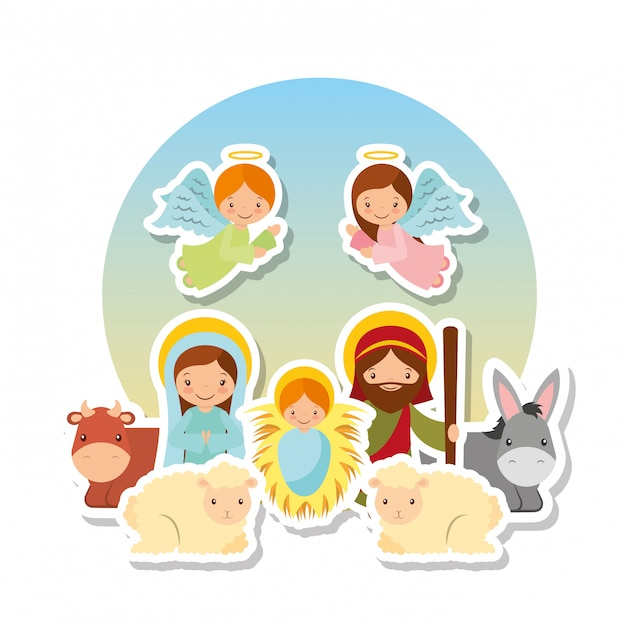 Holy family design Premium Vector