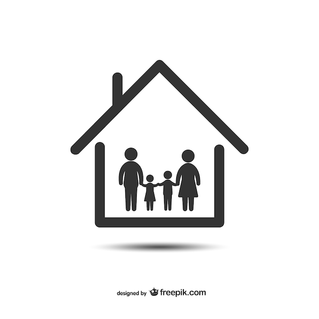 Home and family icon Vector | Free Download