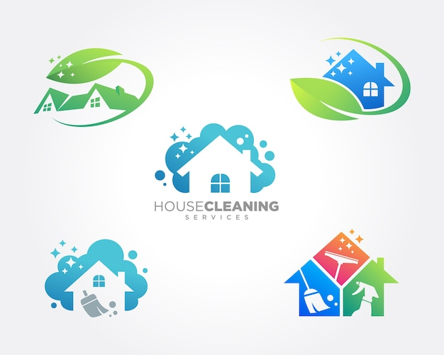 Premium Vector Home Cleaning Service Business Design