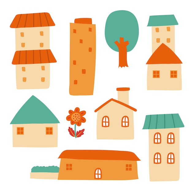 Home collection vector design Premium Vector