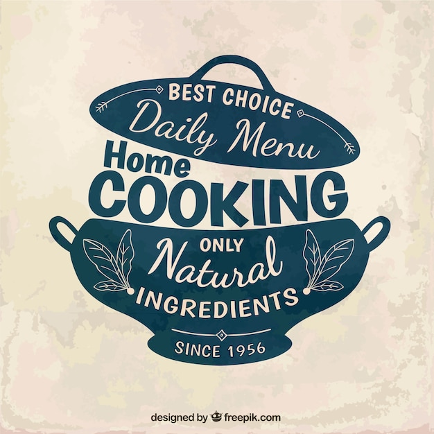 Home cooking badge vector free download - Home cooking ...