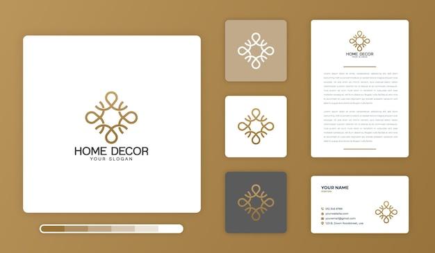 家の装飾のロゴのデザインテンプレート Premiumベクター