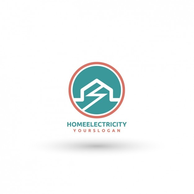 home electricity logo template vector free download