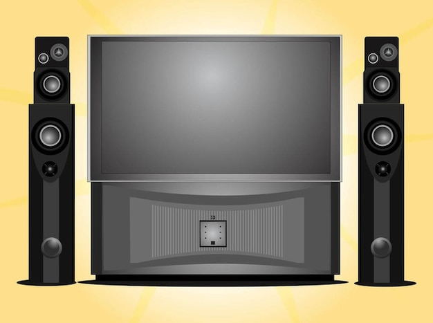 home entertainment home theater system vector free download. Black Bedroom Furniture Sets. Home Design Ideas
