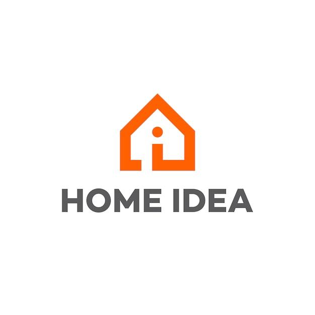 Home Idea Logo Vector Premium Download