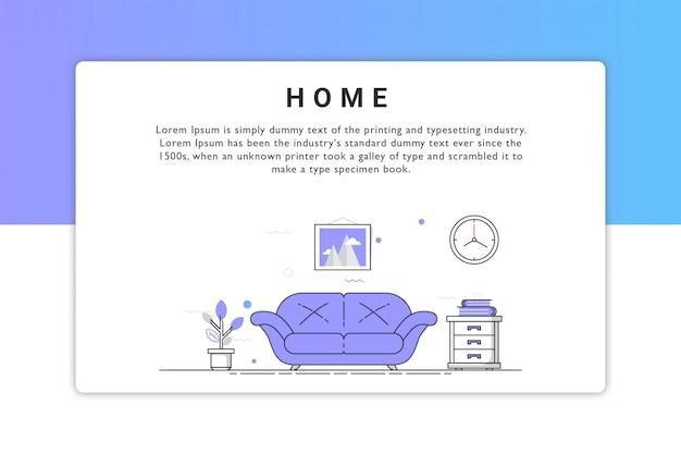 Home illustration Premium Vector