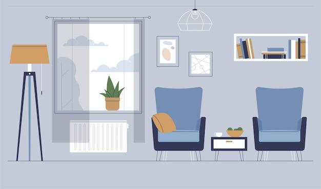 Home interior background style Free Vector