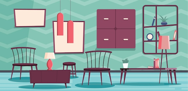 Videoconferenza in background per interni domestici Vettore gratuito