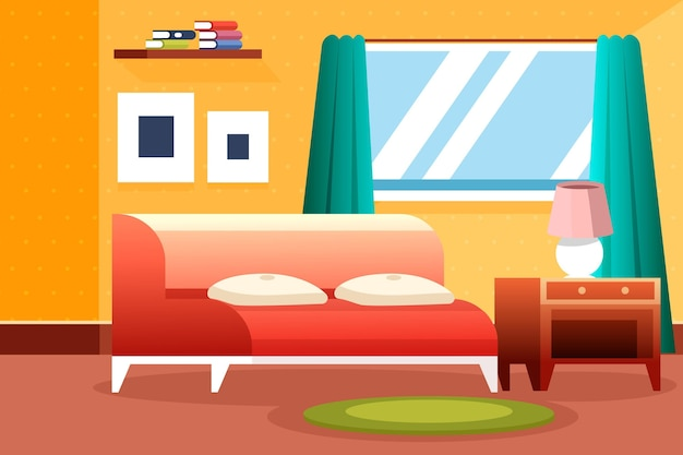 Free Vector | Home interior background for video conferencing